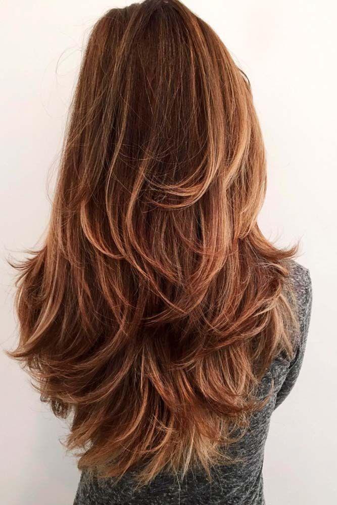 Lange Geschichtete Haarschnitte Für Dickes Haar Hair Pinterest