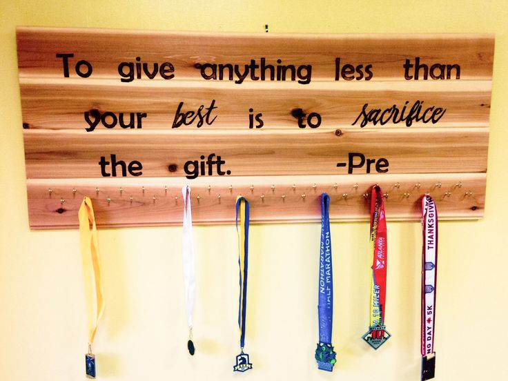 Running Medal Display and Runner Medal Hanger-custom wooden sign, rustic, wooden, race medal hanger, runner medal display, custom race sign by ABStoresWoodburning on Etsy