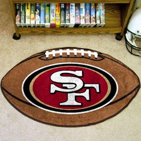San Francisco 49ers Football Rug - Sports Fans Plus