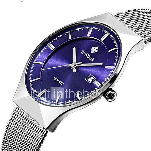 a9622a8b574 Homens Casal Relógio de Pulso Relógio Elegante Relógio de Moda Quartzo  Calendário Impermeável Aço Inoxidável Banda Luxo Casual Prata de 2018 por  €16.78