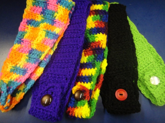 Handmade adjustable head warmers by sheilarich6 on etsy for How to sell crafts on etsy