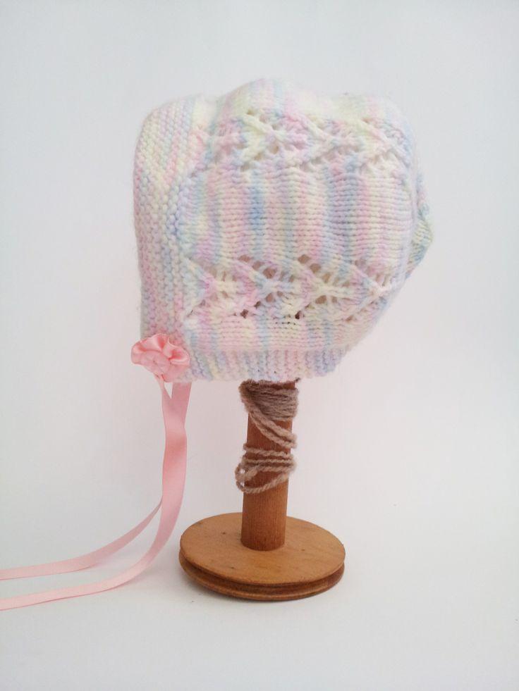 Vintage Baby Knitting Pattern Books : Baby Bonnet from Vintage Knitting Pattern. Paragon ...