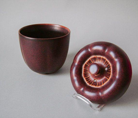 Vintage German pottery Melitta Friesland pepper kitchen garlic keeper