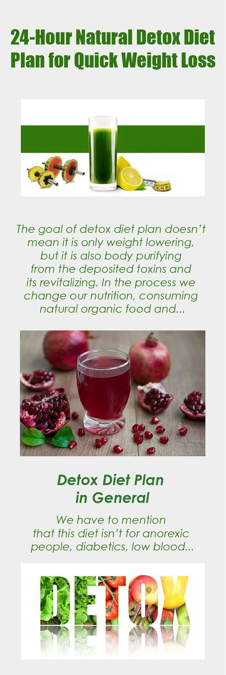 24 Hour Natural Detox Diet Plan For Quick Weight Loss