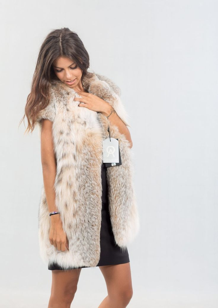 Lavish Lynx Fur Short Vest     #lynx #fur #vest #classy #elegant #lavish #luxury #lynx #design #dress #style #fashion #mexa #furgilet
