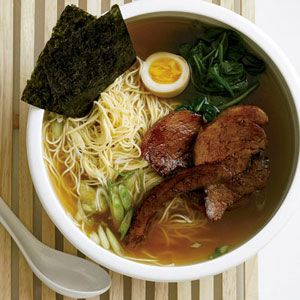 After visiting New York City's top ramen spots (including Ippudo NY, Sapporo and Momofuku Noodle Bar), Grace Parisi created her dream ramen with a pork-and-chicken-based broth that gets extra depth o...see more
