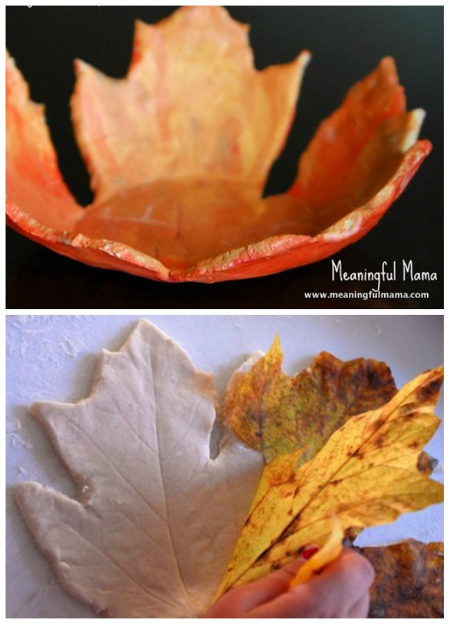 salt dough leaf bowl yields a super cool result, but it was done by preschoolers