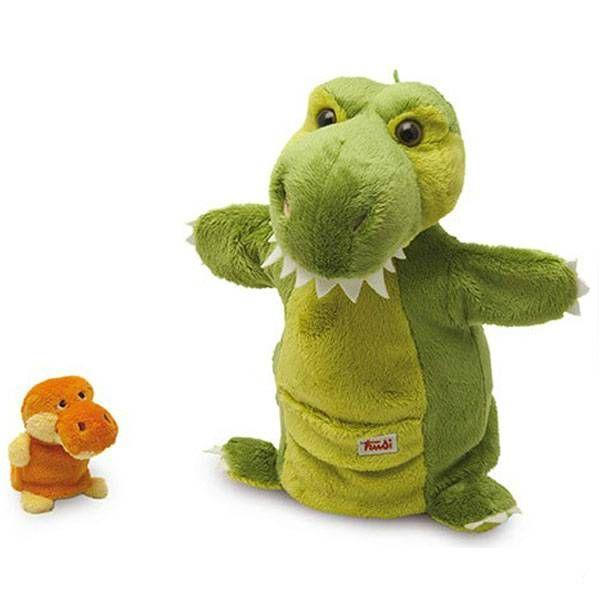 Trudi Handpop Dino met Baby