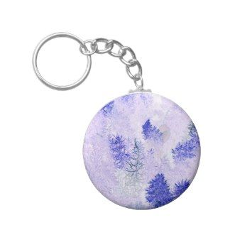 purple Christmas tree products Key Chain