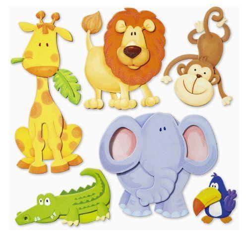 Trend Stickerkoenig Wandtattoo D Sticker Wandsticker Kinderzimmer niedliche Tiere Afrikas L we Elefant uvm Deko auch f r Fenster Schr nke T ren etc auf