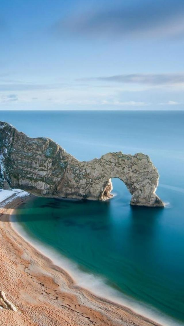 Durdle Door, Jurassic Coast, near Lulworth in Dorset, England