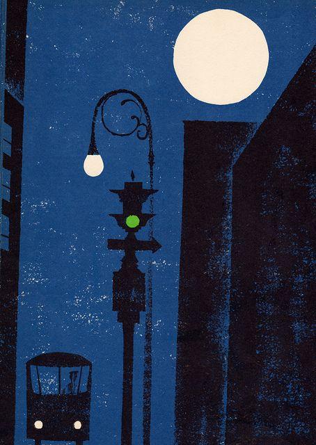 fuckyeahvintage-retro: Look At The Moon, 1969 - Illustrated by Leonard Weisgard.