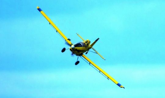 Crop Duster in the RM of Hanover, Manitoba