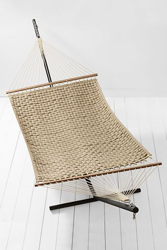 Soft Weave Hammock from Lands' End - can't make it to the beach, just laze around in this beautiful hammock, reading a book (Summer Breeze!), soaking in the warm rays of the sun