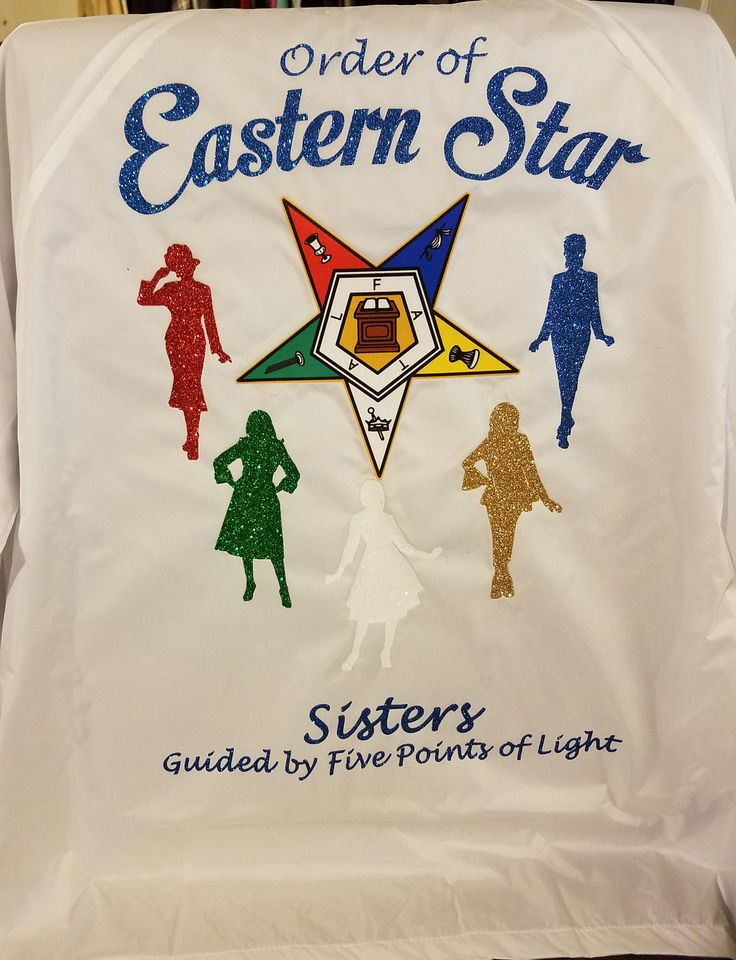 Glitter OES Sisters Jacket / Sisters Guided by 5 Points of Light  / Order of Eastern Star / OES Glitter WINDBREAKER by SherryAmourBySherry on Etsy