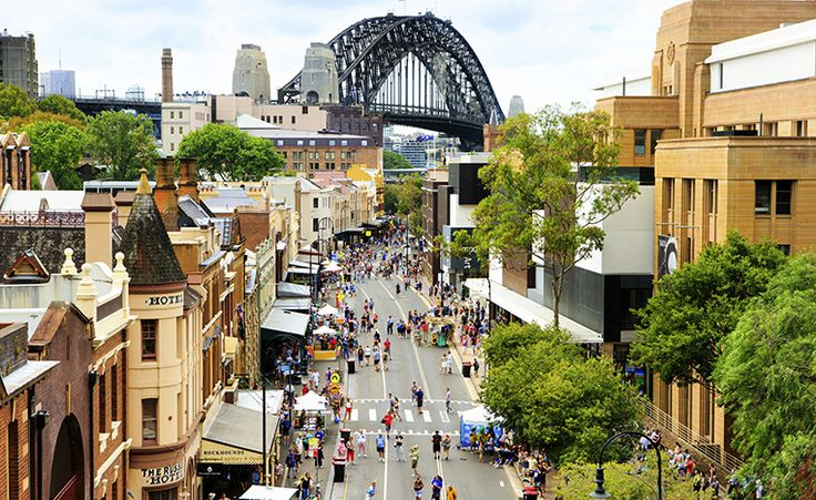 Top 10 Free Things to do in Sydney - Crowds at The Rocks on Australia Day