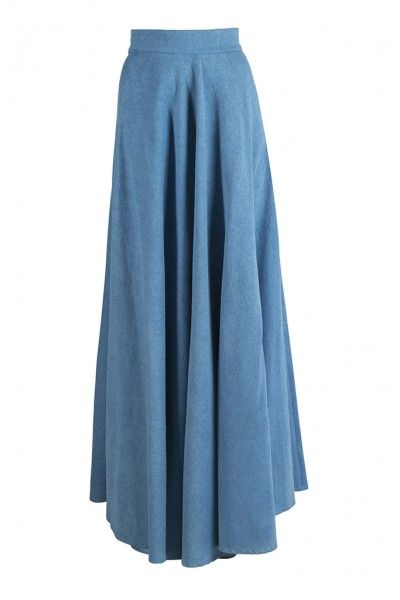 DENIM LOLA SKIRT - Stylish and refined, the Denim Lola Skirt is a modern alternative to a gown. This denim maxi skirt can be successfully combined with a white net/neoprene top or any other comfortable fabric and you will still have an elegant feminine ensemble. Shop now on conceptoline.com!!!