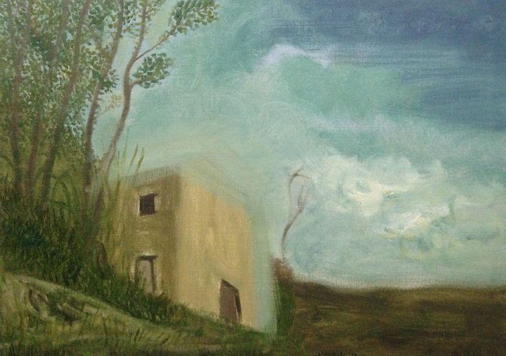 Spanish landscape, 92 x 65 cm Oil on linen canvas. Work in progress