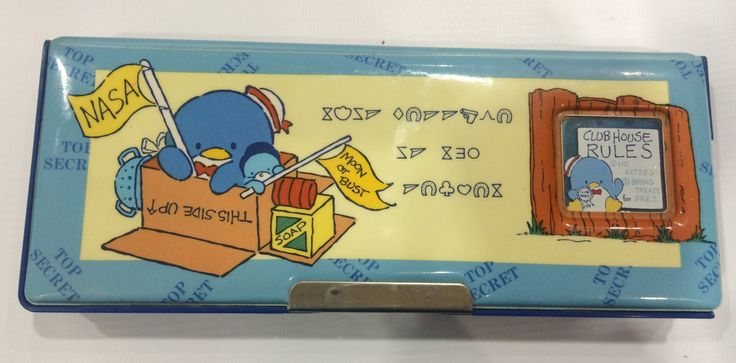 Vintage Tuxedosam Pencil Case 1986 Sanrio made in Japan by TownOfMemories on Etsy