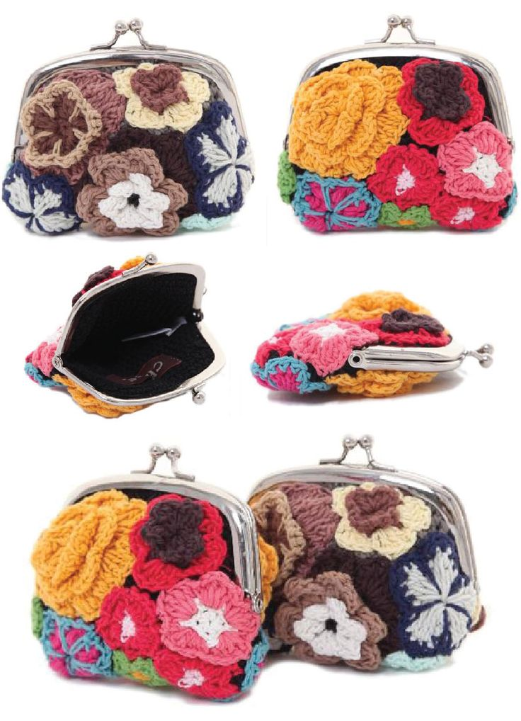 I love these #crochet coin purses
