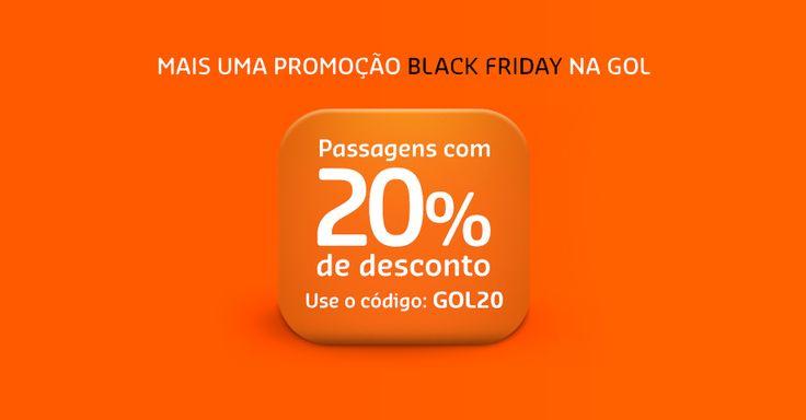 Gol lança Promoção BlackFriday com 20% de descontos em passagens
