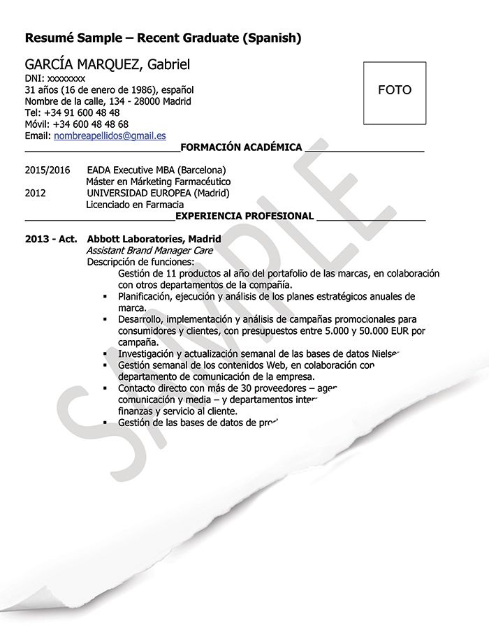 Resume Examples In Spanish Resume Examples Medical Sales Resume Resume