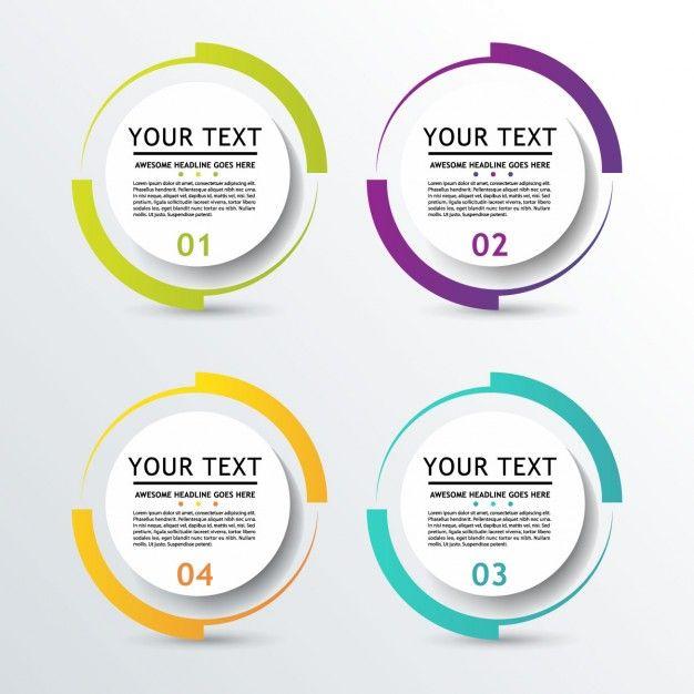 Круглый бизнес инфографики Бесплатные векторы