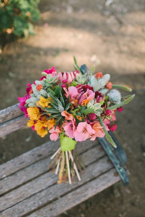 Latin American inspired bouquet.