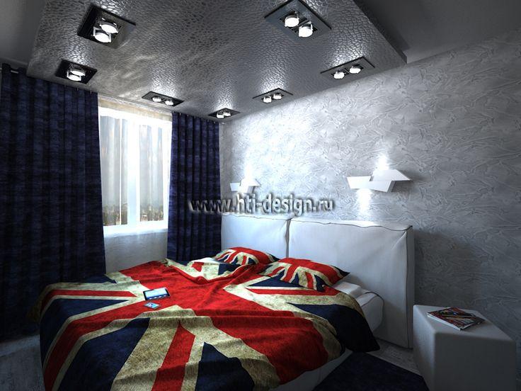 Спальня в стиле необрутализм