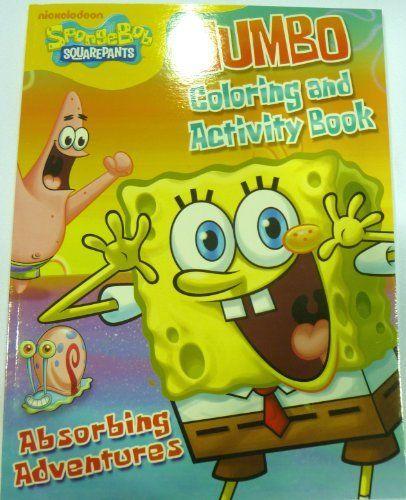 Spongebob Squarepants Jumbo Coloring Activity Book By SpongeBob SquarePants 011 Includes And