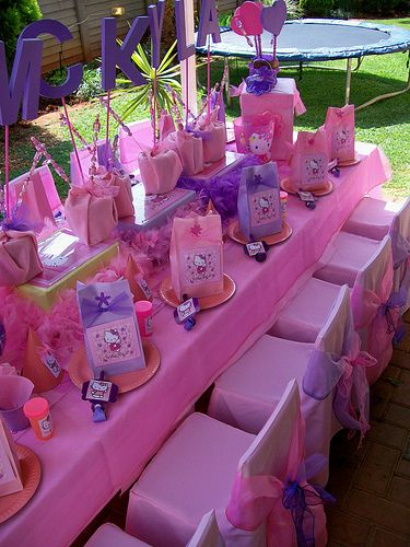 """Fairy Princess Hello Kitty"" Party Table by Treasures and Tiaras Kids Parties, via Flickr"