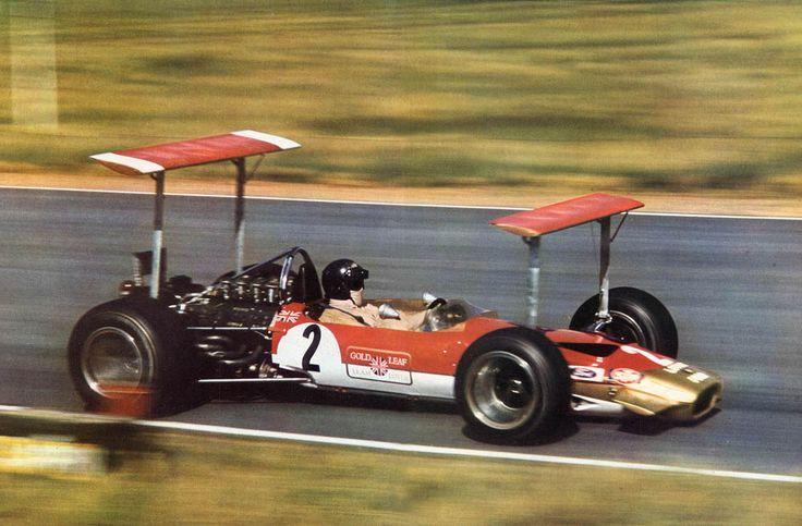 Karl Jochen Rindt (AUT) (Gold Leaf Team Lotus), Lotus 49B - Ford V8 (RET) 1969 South African Grand Prix, Kyalami