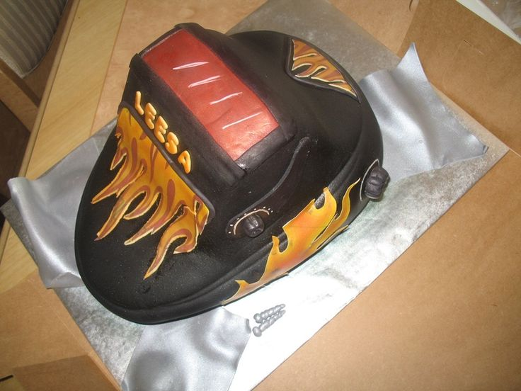 Welding Helmet Cake | Graduation Ideas | Pinterest ...