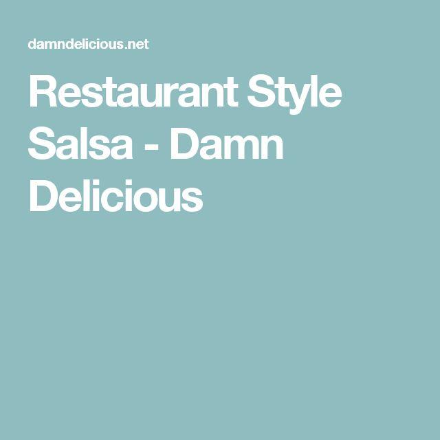 Restaurant Style Salsa - Damn Delicious