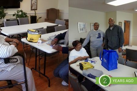 Assistant - Google Photos Senior citizen project at the 7th Day Adventist Senior Citizens apartment, 9th and Southern Avenue, S.E. Washington, D.C.