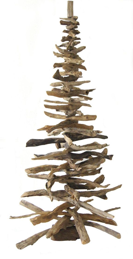 Natural Driftwood Tree I made 5 of these for Christmas..I kept the larger one.. Sonja