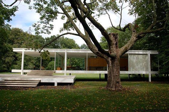 17 best images about architecture public buildings on - Casa farnsworth ...