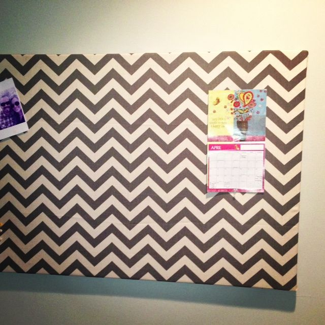 Garage Sale Find: $5 DIY Chevron Bulletin Board