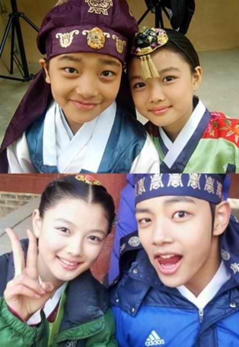 Love these two from The Moon Embracing the Sun <3 #KimYooJung #YeoJinGoo/Moon Embracing the Sun (Hangul: 해를 품은 달;RR: Haereul Pum-eun Dal, also known as The Sun and the Moon) is a 2012 South Korean television drama series, starring Kim Soo-hyun, Han Ga-in,Jung Il-woo and Kim Min-seo. It aired on MBC.