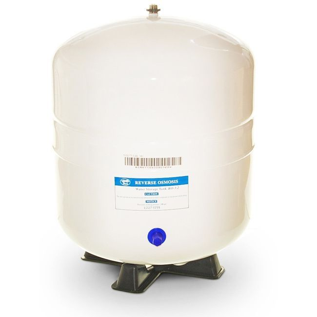 iSpring T32M/T55M Reverse Osmosis Pressurized Water Storage Tank (3.2 gallon), Silver stainless steel