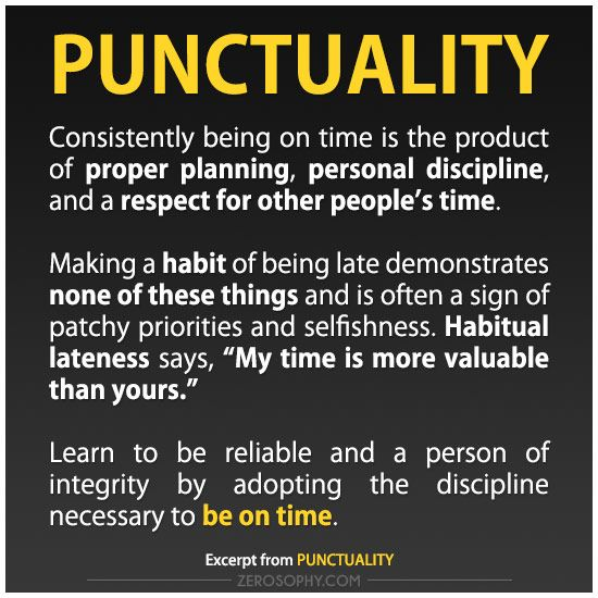 Quotes On The Importance Of Time: Excerpt From: Punctuality