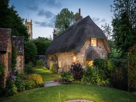 """Faerie Door Cottage- Pinch me, is it real? """"Thatched with combed wheat straw"""" Faerie Door Cottage is a fairytale come to life."""