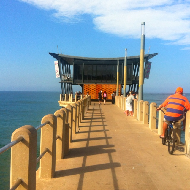 Moyo on the pier