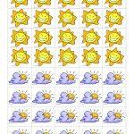 Icônes pour le calendrier de classe (météo) et tableau de compilation