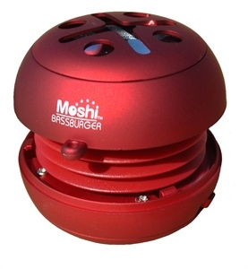 Moshi Bassburgers. Palm sized speakers for use with your laptop, iPhone, iPod or Mp3 player.