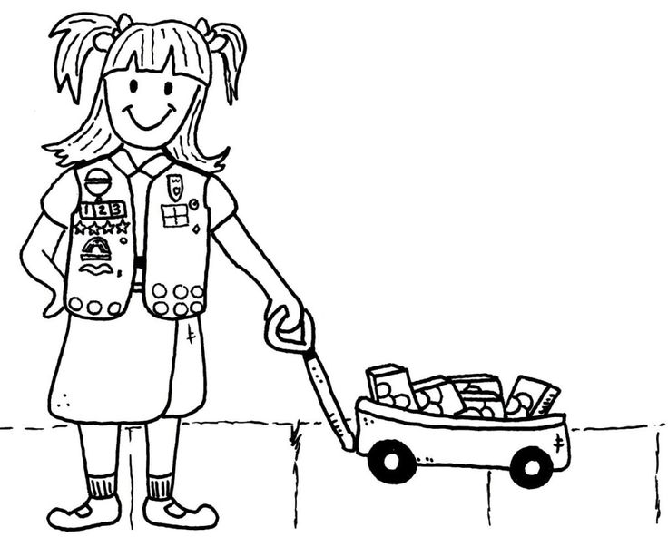50 best Girl Scout Coloring Pages images on Pinterest Daisy