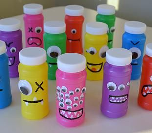 Neat Little Nest: Organizing a Kids' Monster Birthday Party with #DIY monster bubble and monster mouth crafts