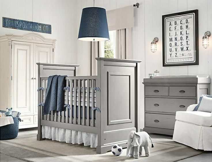 Blues and grays baby room