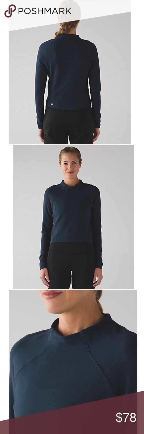SALE! 🔥 lululemon hill and valley mock crop top SOLD OUT online! Mine is black color. Made of buttery-soft and naturally breathable Rulu™ fabric, it wicks sweat so you don't feel overheated when you're braving the cold. We added reflective details for improved low-light visibility and a zippered pocket so you can keep your essentials close at hand. lululemon athletica Tops Crop Tops