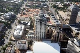 Sandton City South Africa aerial view